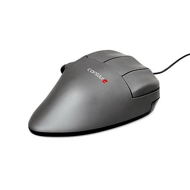 Contour CMOGMSR Right Hand USB Wired Optical Computer Mouse, Small, Gray