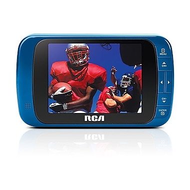 RCA DHT235AB 320 x 240 3 1/2in. LCD LED Portable Digital TV, Blue