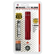 MAGLITE XL200 2.30-218 Hour 3-Cell AAA LED Flashlight, Red