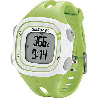 Garmin Forerunner 10 GPS Sport Watch, Green/White