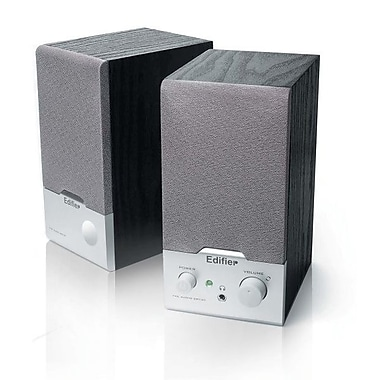 Edifier R18 2.0 Multimedia Speaker System, Black/Silver