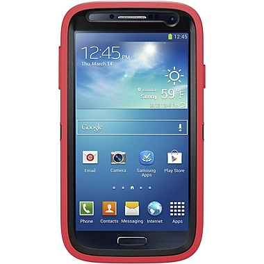 OtterBox Defender Series Holster Case For Samsung Galaxy S4, Raspberry