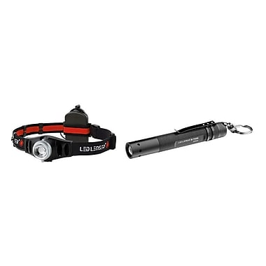LED Lenser H7 Headlight/P2 Flashlight Bundle in Peg