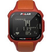 Polar RC3 GPS Without Heart Rate Monitor Watch, Red/Orange