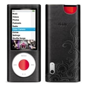 iLuv ICC312 Leather Case with Flame Pattern for Apple iPod Nano 5th Gen, Black