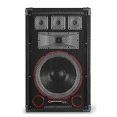 Technical Pro VMPR 1200 W 12in. Seven Way Carpeted Cabinet Speaker With Steel Grill, Black