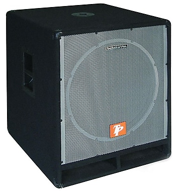Technical Pro SUB1801X 2000 W Carpeted 18in. Passive Subwoofer With Built In Crossover, Black