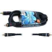 "Technical Pro CDRR-Series 3' 18 Gauge Dual 1/4"" Audio Cable, Black"