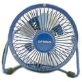 Optimus F-4040 4in. Personal Metal Fan, Blue