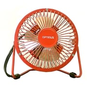 "Optimus F-4040 4"" Personal Metal Fan, Red"
