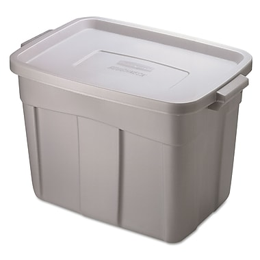 Pacon® 18 gal Roughneck Storage Box, Grey/Black