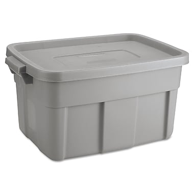 Pacon® 14 gal Roughneck Storage Box, Grey/Black