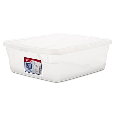 Pacon® 3.75 gal Clever Store Non-Latching Container, Clear Lid