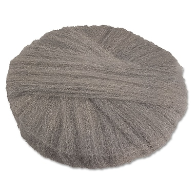 Global Material 17in. #2 Radial Steel Wool Floor Pad, Gray