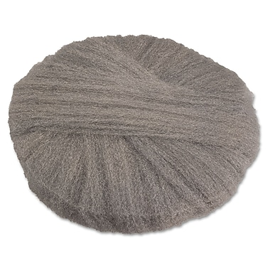 Global Material 20in. #2 Radial Steel Wool Floor Pad, Gray