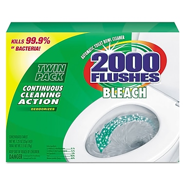 2000 Flushes® Blue Plus Bleach, Neutral Scent