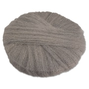 "Global Material 18"" #2 Radial Steel Wool Floor Pad, Gray"