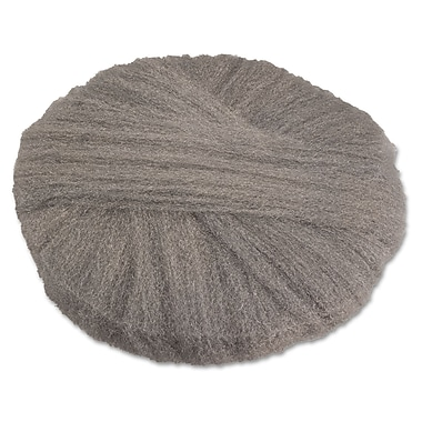 Global Material 19in. #1 Radial Steel Wool Floor Pad, Gray