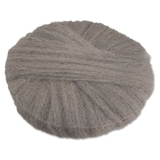 "Global Material 20"" #1 Radial Steel Wool Floor Pad, Gray"