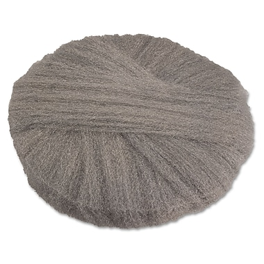 Global Material 17in. #1 Radial Steel Wool Floor Pad, Gray