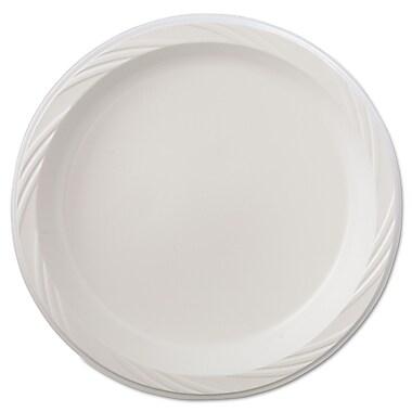 Chinet® Huhtamaki 9in. Lightweight Round Plastic Plate, White