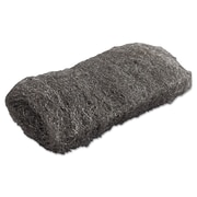 Global Material Medium #1 Steel Wool Hand Pad, Gray