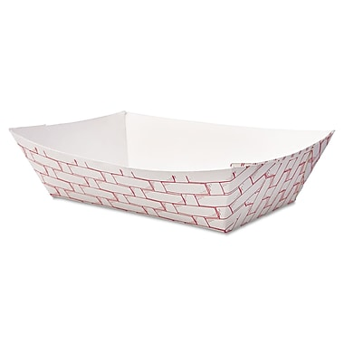 Boardwalk® 2 lbs. Paper Food Tray, Red Weave, 1000/Case