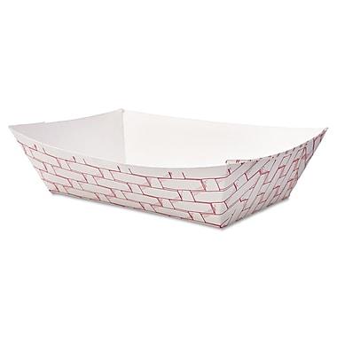 Boardwalk® 2 lbs. Paper Food Tray, Red Weave, 1000/Case