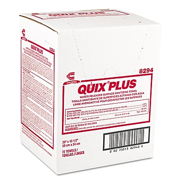 Chicopee® Quix® Plus Pretreated Towel, Pink, 72/Case