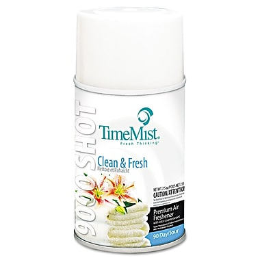 TimeMist® 7.5 oz. 9000 Shot Metered Air Freshener, Clean and Fresh
