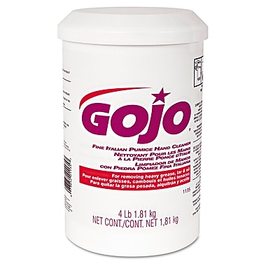 GOJO® 4 lbs. Plastic Cartridge Fine Italian Pumice Hand Cleaner, Yellow