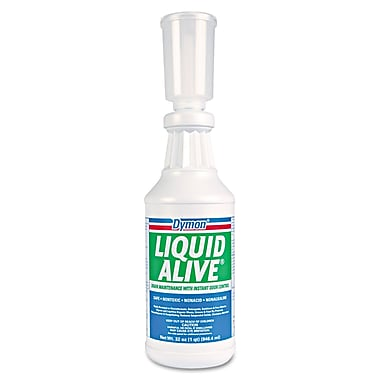 Dymon® Liquid Alive® 32 oz. Bacteria Producing Enzyme, Mint Scent, 12/Case