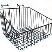 "Slanted Slatwall/Gridwall Wire Baskets, 12""W x 12""D x 8""H"