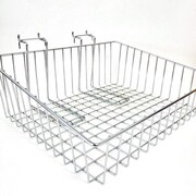 "Slanted Slatwall/Gridwall Wire Baskets, 15""W x 12""D x 5""H"