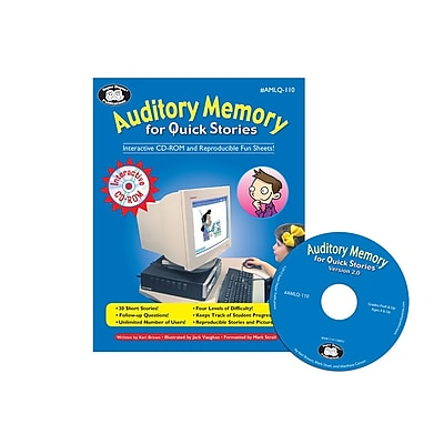 Super Duper Auditory Memory For Quick Stories Interactive CD ROM