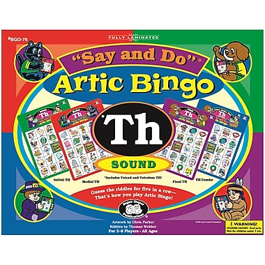 Super Duper® Say and Do® TH Artic Bingo Sound Game