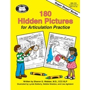 Super Duper® 180 Hidden Pictures for Articulation Practice Book