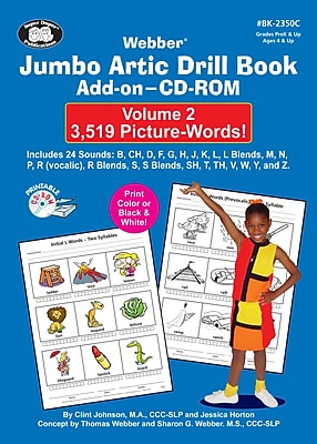 Super Duper Jumbo Artic Drill Book PICTURE WORDS Add On CD ROM