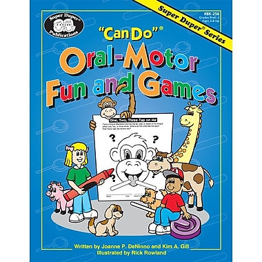 Super Duper® in.Can Doin.® Oral-Motor Fun and Games Sheets and Card Book, Grades PreK-2