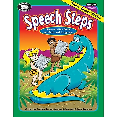 Super Duper® Speech Steps Book, Grades PreK-3