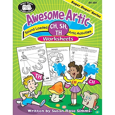 Super Duper® Awesome Artic® CH, SH, TH Worksheets Book