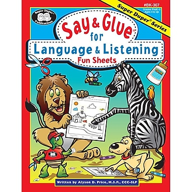 Super Duper® Say and Glue® for Language and Listening Fun Sheets Book
