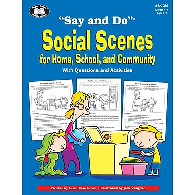 Super Duper® Say and Do® Social Scenes for Home, School and Community Activities Book