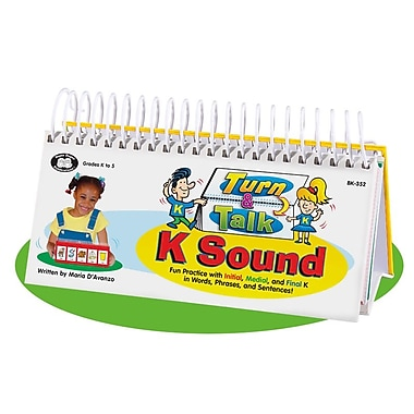 Super Duper® Turn and Talk® K Sound Articulation and Language Flipbook