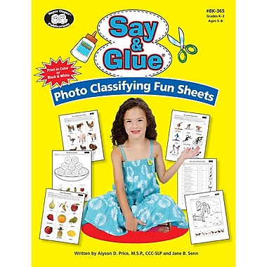 Super Duper® Say & Glue® Photo Classifying Fun Sheets Book & CD