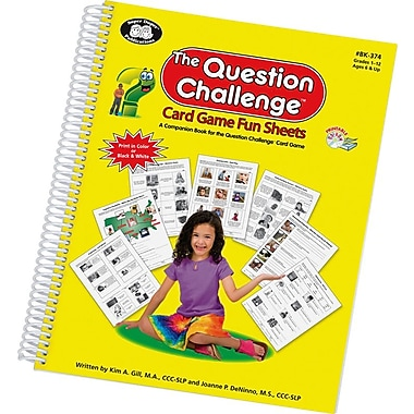 Super Duper® The Question Challenge™ Card Game Fun Sheets Book