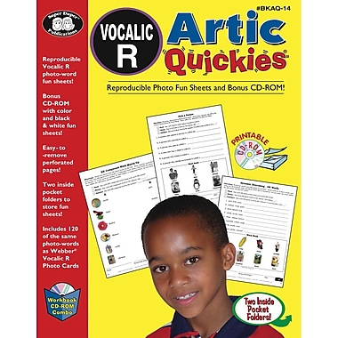 Super Duper® Artic Quickies Reproducible Workbook and CD-ROM for Vocalic R