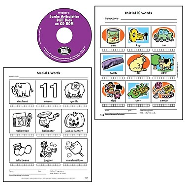 Super Duper® Webber® Jumbo Artic Drill Book CD-ROM