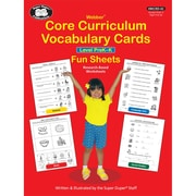 Super Duper® Webber Core Curriculum Vocabulary Cards Fun Sheets, Level PreK-K