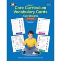 Super Duper® Webber® Core Curriculum Vocabulary Cards Fun Sheets Book, Level One